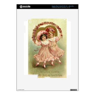Amistad del el día de San Valentín del vintage Pegatina Skin Para iPad 3