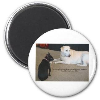 Amistad del perro imán redondo 5 cm