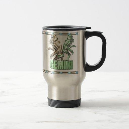 Amistad del zodiaco de los géminis del acuario de  tazas de café