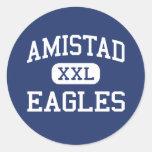 Amistad - Eagles - High School secundaria - Indio Pegatina Redonda