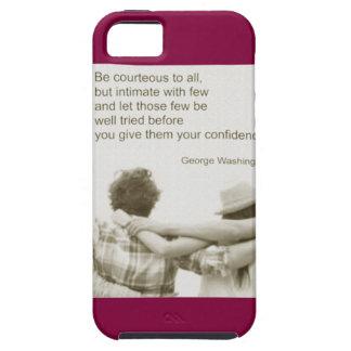 Amistad George Washington de Amizade iPhone 5 Carcasa
