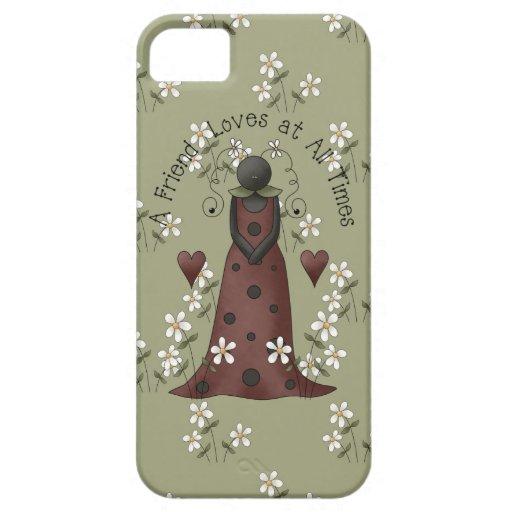 Amistad iPhone5 de la mariquita y de las margarita iPhone 5 Case-Mate Carcasas