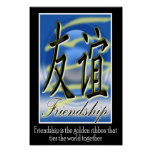 Amistad - símbolo chino poster
