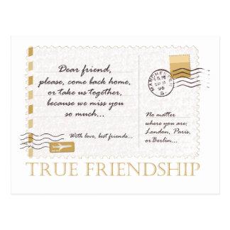 Amistad verdadera postales