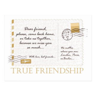 Amistad verdadera tarjetas postales