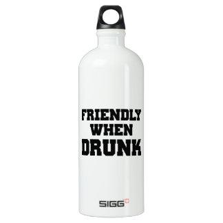 Amistoso cuando es borracho