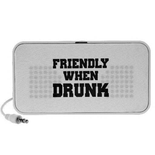Amistoso cuando es borracho sistema de altavoz