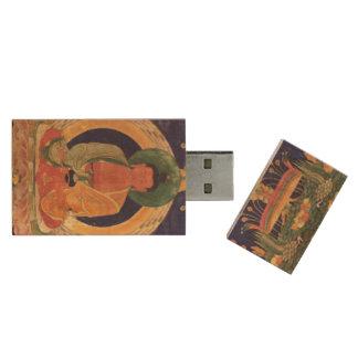 Amitabha: Buddha of Boundless Light: Wood USB Flash Drive