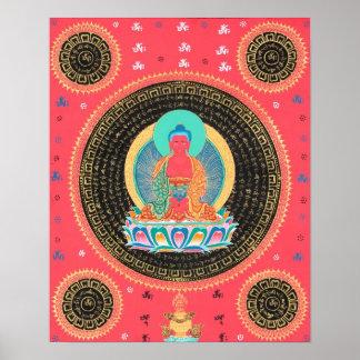 Amitabha Buddha Thangka Poster