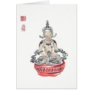 Amitayus Buddha Art Blank Card