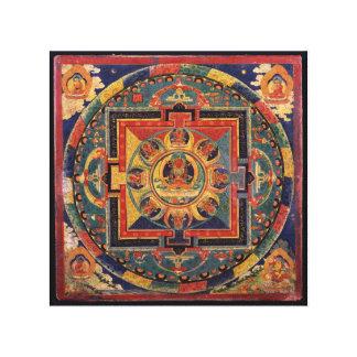 Amitayus mandala, 19th century Tibetan school Gallery Wrap Canvas