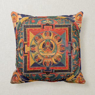 Amitayus Mandala Thangka Throw Pillow