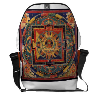 Amitayus Mandala, Tibetan School 19th century Messenger Bag