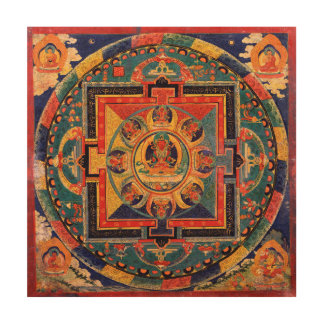 Amitayus Mandala Wood Wall Art