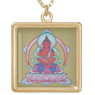 Amitayus - The Buddha of Infinite Life Gold Plated Necklace