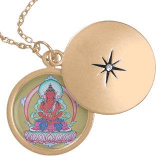 Amitayus - The Buddha of Infinite Life Locket Necklace