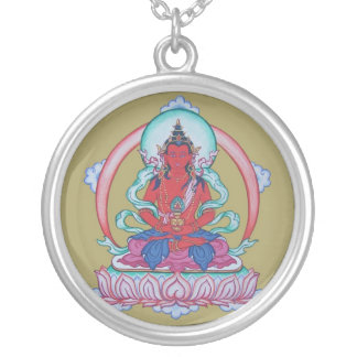 Amitayus - The Buddha of Infinite Life Silver Plated Necklace