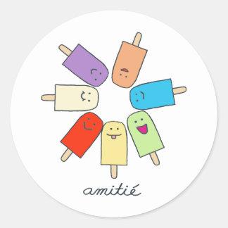 Amitié Classic Round Sticker
