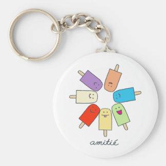 Amitié Basic Round Button Keychain