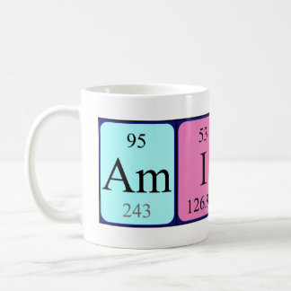 Amity periodic table name mug
