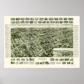 Amityville, NY Panoramic Map - 1925 Print