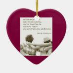 Amizade Friendship George Washington Double-Sided Heart Ceramic Christmas Ornament