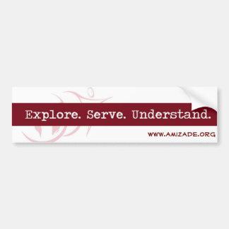 Amizade Slogan BumperSticker Bumper Sticker