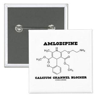 Amlodipine Calcium Channel Blocker (Chemistry) 2 Inch Square Button