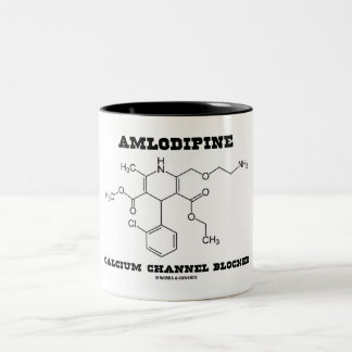 Amlodipine Calcium Channel Blocker (Chemistry) Two-Tone Coffee Mug