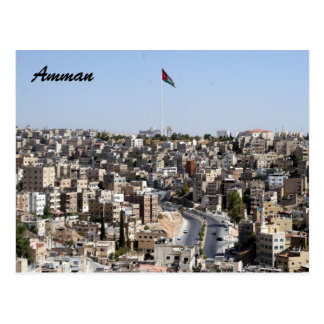 amman city flag postcard