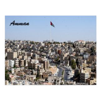 amman city flag postcard