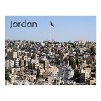 amman city jordan postcard