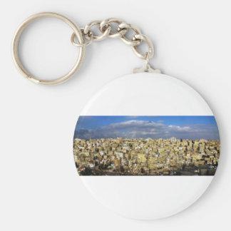 Amman Basic Round Button Keychain