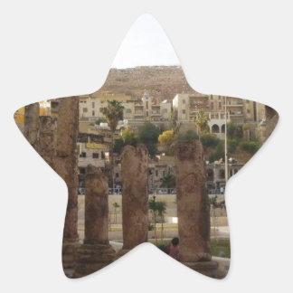 Amman Roman Theater Half Columns Star Sticker