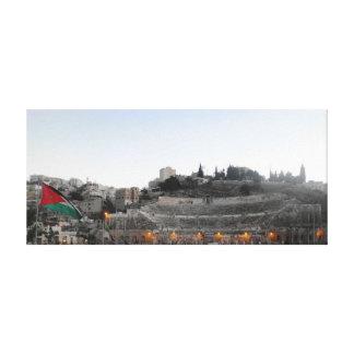 Amman Roman Theater in Winter Canvas Print