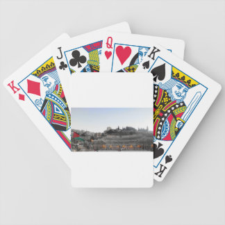 Amman Roman Theater in Winter Bicycle Playing Cards