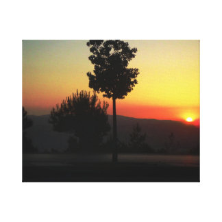 Amman Sunset 2 Canvas Print
