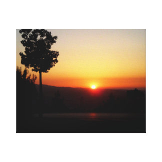 Amman Sunset Canvas Print