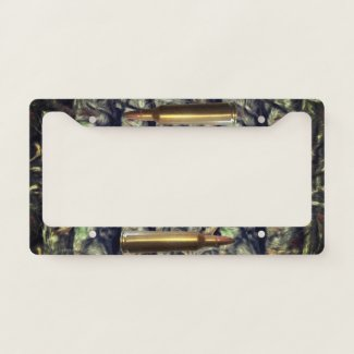 Ammo Bullet Hunting License Plate License Plate Frame