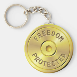 Ammo cartridge from a fired bullet, freedom keychain