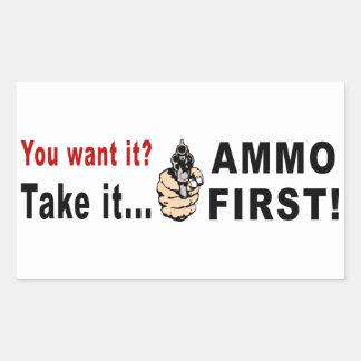 Ammo First Rectangular Sticker