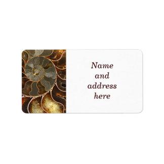 Ammolite Personalized Address Labels