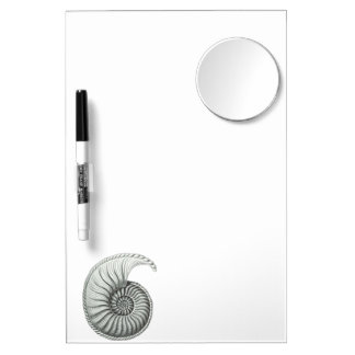 Ammonite Dry Erase Board With Mirror