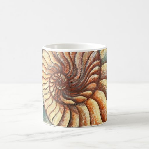 Ammonite Fossil Art Mug 2