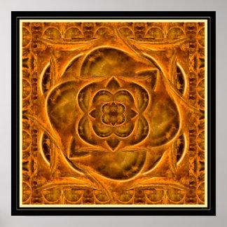 Ammonite II gemstone fractal art poster