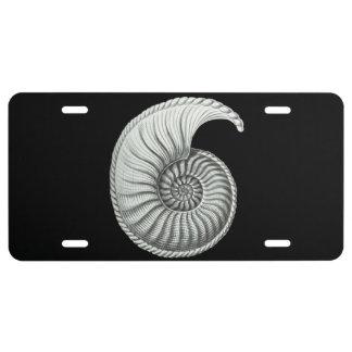 Ammonite License Plate