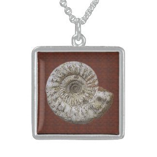 Ammonite Spiral Sterling Silver Necklace