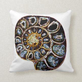 Ammonite Throw Pillow
