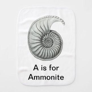 Ammonite Burp Cloths