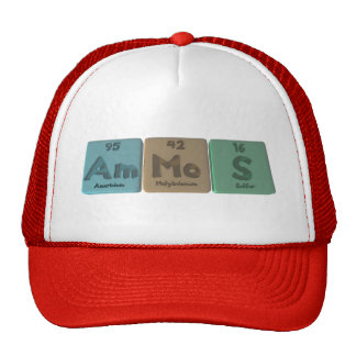 Ammos-Am-Mo-S-Americium-Molybdenum-Sulfur Trucker Hats